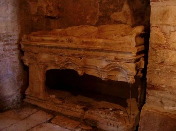 The original tomb of St. Nicholas in Myra.