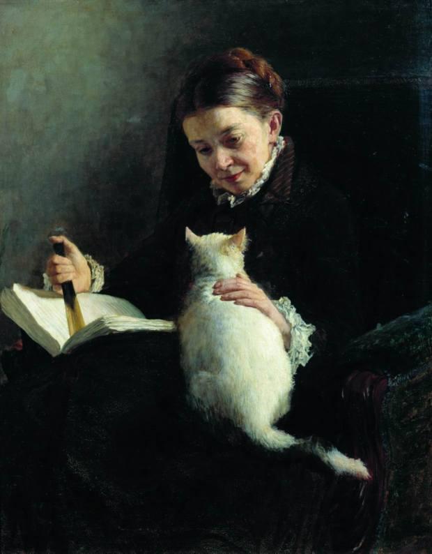 Elizabeth Platonovna Yaroshenko by Nikolai Yaroshenko, 1880