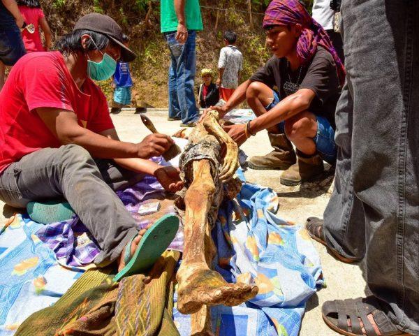 Ma'nene festival of corpses, Indonesia.