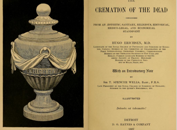 The opening pages to 1887 book The Cremation of the Dead.
