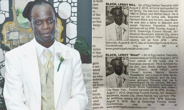 "Leroy Blast Black was a loved man, that we can boldly affirm. We did not know Leroy blast Black, dubbed ""Blast,"" gone too soon at the tender age of 55, but obviously he was well surrounded during his illness."