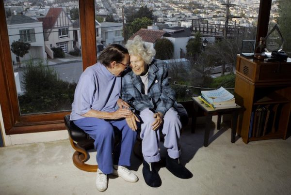 ** FILE** In this March 3, 2008 file photo, Phyllis Lyon, left, and Del Martin are photographed at home in San Francisco. On Monday, June 16, 2008, San Francisco Mayor Gavin Newsom will marry Martin and Lyon making them the first same sex couple to wed in San Francisco. (AP Photo/Marcio Jose Sanchez)