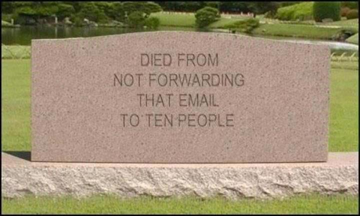 not forwarding email