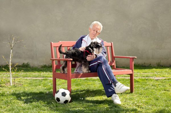 Spiritual care can involve having your dog nearby or being surrounded by your favourite sports team regalia.