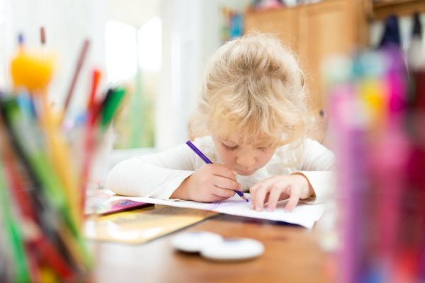 Tasks such as drawing a picture of heaven can help comfort children.