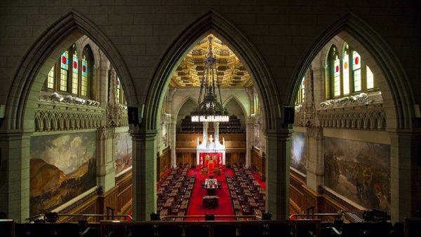 The Senate chamber on Parliament Hill in Ottawa on Thursday Jan. 13, 2011. (Sean Kilpatrick/CP)